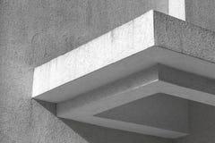 抽象白色建筑学片段 免版税库存照片