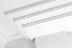 抽象白色建筑学片段 库存图片
