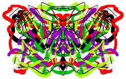 抽象相称绘的Rorschach测试墨水斑点 库存图片