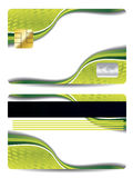 抽象看板卡赊帐设计绿色 免版税库存图片