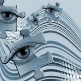 抽象眼睛 免版税库存图片