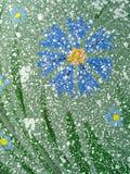 抽象矢车菊被画的照片 图库摄影