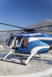 抽象砍刀直升机直升机场 免版税库存照片