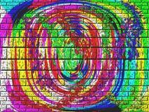 抽象砖颜色 免版税库存照片