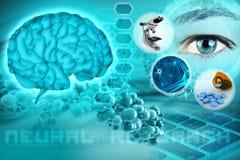 抽象神经学背景 免版税库存图片