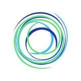 抽象禅宗圈子波浪债券标志商标设计 皇族释放例证