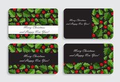 抽象秀丽圣诞节和新年卡片传染媒介 免版税库存照片