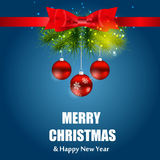 抽象秀丽圣诞节和新年度背景 免版税库存图片