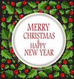 抽象秀丽圣诞节和新年度背景 免版税图库摄影