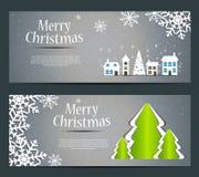 抽象秀丽圣诞节和新年横幅。 免版税库存照片