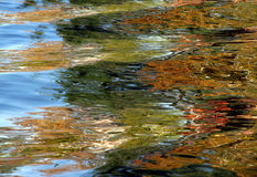抽象秋天湖通知 库存图片