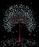 抽象秋天结构树向量 免版税图库摄影
