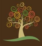 抽象秋天结构树 库存图片