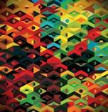 抽象种族几何模式-背景 库存例证