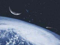 抽象科学和探险背景 向量例证