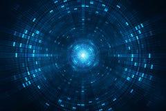 抽象科学小说未来派背景-碰撞粒子加速器 免版税库存照片