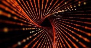 抽象科学或技术背景 与动态微粒的列阵 库存图片