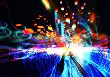 抽象科学技术概念 库存照片