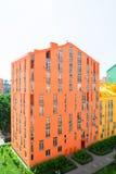 抽象空中背景大厦五颜六色的庄园安置的实际住宅视图 房地产和住房 库存照片