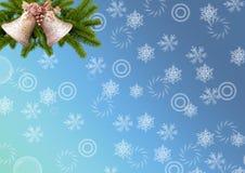 抽象空白背景圣诞节黑暗的装饰设计模式红色的星形 卡片 风铃草、杉木分支和snowf 免版税库存图片
