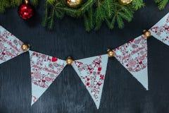 抽象空白背景圣诞节黑暗的装饰设计模式红色的星形 插入文本的背景 新年2018年 库存图片