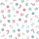 抽象空白背景圣诞节黑暗的装饰设计模式红色的星形 与圣诞节象的无缝的样式 库存照片