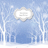 抽象空白背景圣诞节黑暗的装饰设计模式红色的星形 雪冬天风景贺卡 免版税库存图片