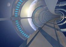抽象空间隧道 免版税库存图片