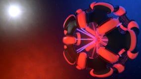 抽象空间球形 免版税库存照片