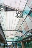 抽象窗口在机场 图库摄影