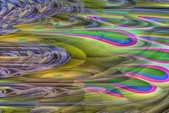 抽象立体主义的踪影形状 图库摄影