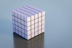 抽象立方体几何背景 免版税图库摄影