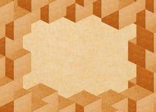 抽象立方体框架纸张回收 免版税库存照片