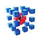 抽象立方体结构 免版税库存图片