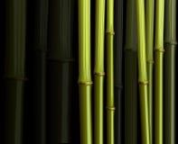 抽象竹叶子森林例证密林 免版税图库摄影