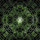 抽象等高绿色数字式方形的设计 库存图片