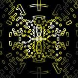 抽象等高黄色数字式设计背景 免版税库存图片