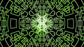 抽象等高绿色数字式设计 免版税库存照片