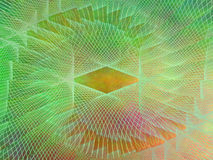 抽象等离子橙黄色绿色网背景 库存图片