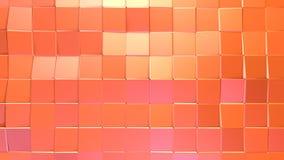 抽象简单的桃红色橙色低多3D表面当空间背景 软的几何低多行动背景转移 向量例证