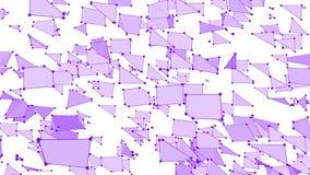 抽象简单的紫罗兰色挥动的3D栅格或滤网作为高科技背景 紫罗兰色几何振动的环境或 向量例证