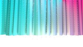 抽象简单的蓝色桃红色低多3D帷幕和飞行的白色水晶作为凉快的背景 软几何低多 库存例证