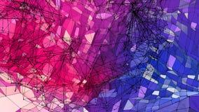 抽象简单的蓝色红色低多3D表面当艺术环境 与纯净的软的几何低多行动背景 向量例证