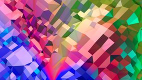 抽象简单的蓝色红色低多3D表面当CG背景 与纯净的蓝色的软的几何低多行动背景 库存例证