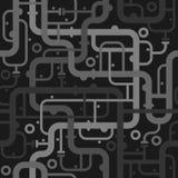 抽象管道系统的无缝的样式 免版税图库摄影