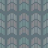 抽象箭头形状的几何无缝的重复样式 在小点的传染媒介背景设计 库存例证