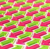 抽象箭头绿色做粉红色 免版税库存照片