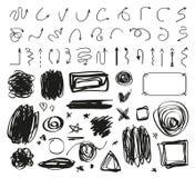 抽象箭头  手拉的被缠结的标志  线艺术  向量例证