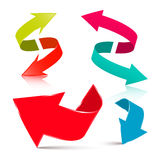 抽象箭头不同的eps10集合符号视窗 皇族释放例证