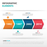 抽象箭头企业时间安排Infographics元素,网络设计的介绍模板平的设计传染媒介例证 库存图片